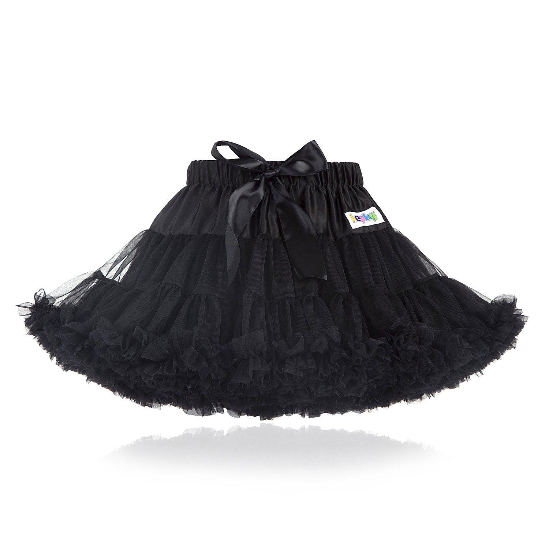 kephy Baby Extra Fluffy Princess Tutu Skirt Little Girl Pleated Tulle Skirt Birthday Dance Pettiskirt (0-10T)