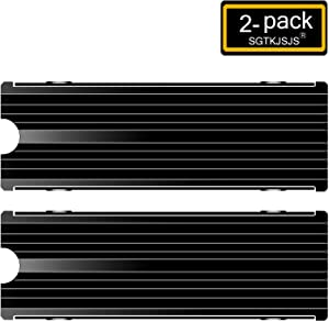 M.2 Heatsink SSD Cooler for PCIE NVME or SATA m2 2280 SSD Cooling(Black 2 Pieces)