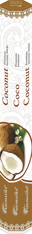 Pack E Aromatika Hexa 6 Assorted Natural Masala Incense Sticks Sandal, Jasmine, White sage, Lavender, Aloe Vera, Coconut 6 Boxes X 20 Sticks=120 Sticks