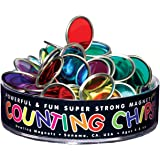 Dowling Magnets - DO-736608 Magnetic Counting Chips with Block Magnet, 75 Chips, Bingo Chips