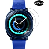 RBEIK [2 PACK] Samsung Gear Sport Screen Protector Glass, 2.5D 9H Hardness HD Clear Scratch Resistant Tempered Glass Screen Protector for Samsung Gear Sport Smart Watch