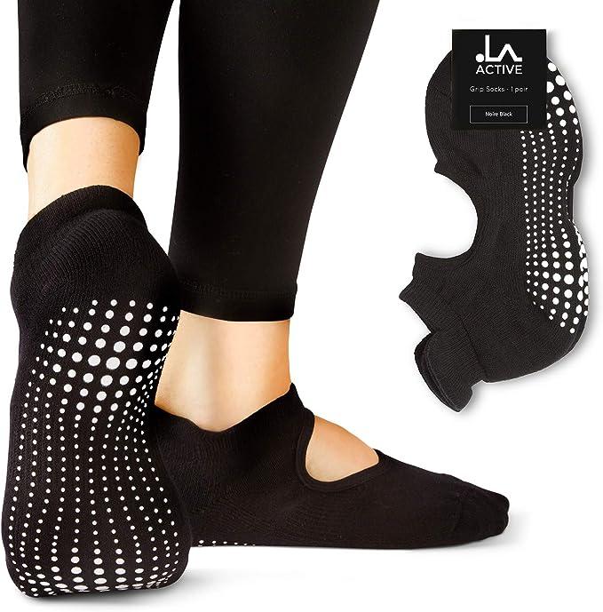 Amazon.com: LA Active Grip - Calcetines antideslizantes para ...