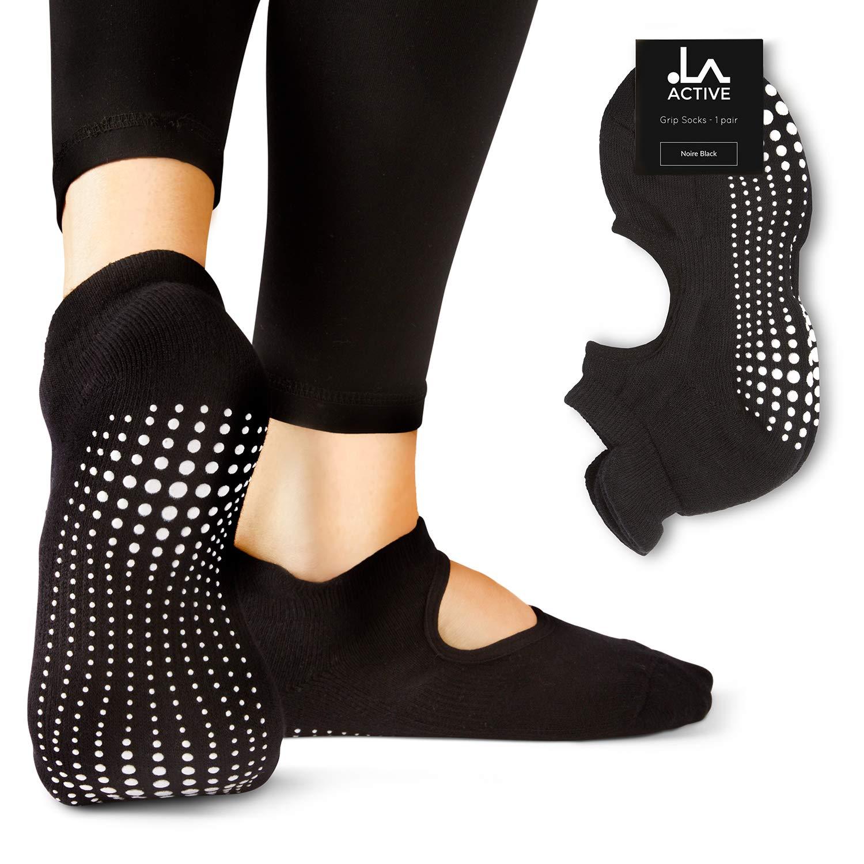 LA Active Grip Chaussettes Antidérapantes - Pour Yoga Pilates Barre Femme Homme...