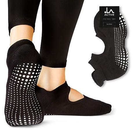 nouvelle collection d8b04 56829 LA Active Grip Chaussettes Antidérapantes - Pour Yoga Pilates Barre Femme  Homme - Ballet