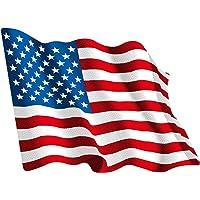 Artimagen Pegatina Bandera Ondeante USA pequeña 65x50 mm.