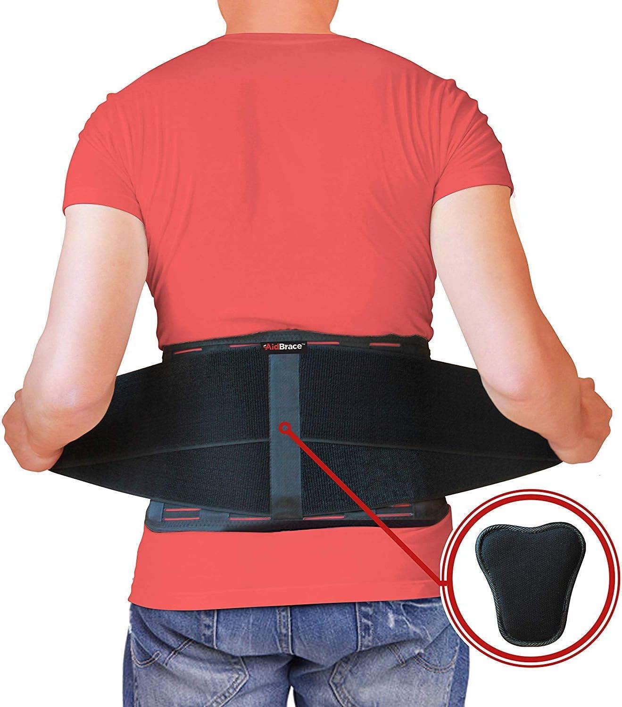 AidBrace Ceinture de maintien pour le dos - Aide à soulager les douleurs au Bas du dos, sciatique, Scoliose, hernie Discale ou Dégénérative disque maladie (L/XL)