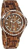 [ビーウェル]BEWELL 腕時計 ウッドウォッチ 木製 ダイバーズウォッチ風 5気圧防水 カレンダー 夜光 ZS-W100BG-ZE ゼブラ メンズ [並行輸入品]