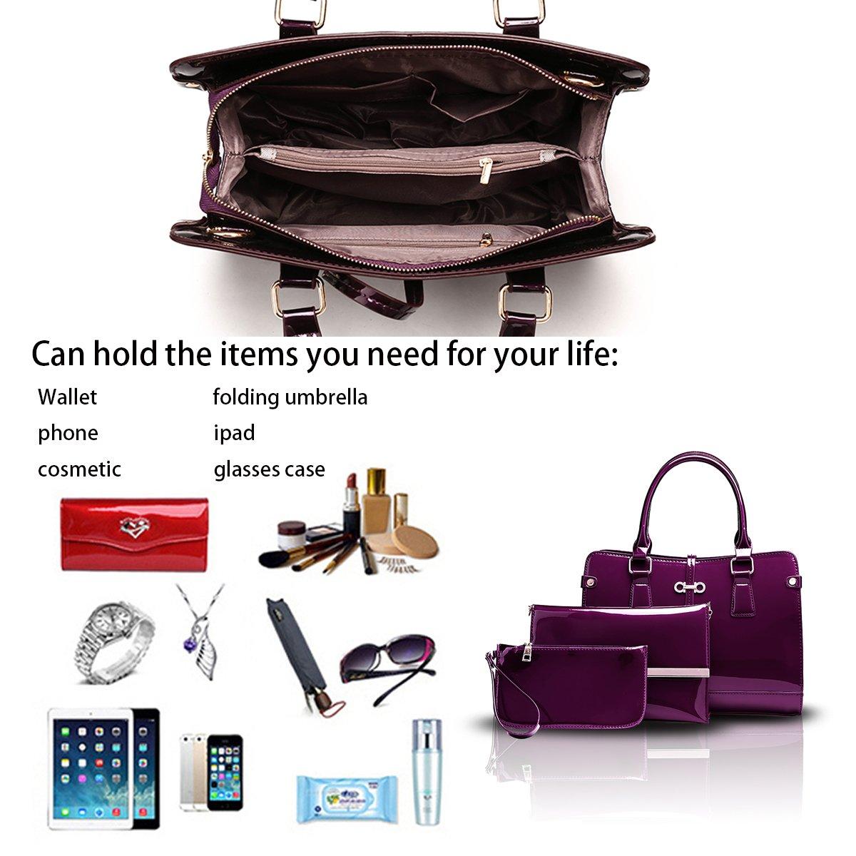 wallet Messenger bag Sdinaz new womens handbags patent leather three-piece womens bag shoulder bag
