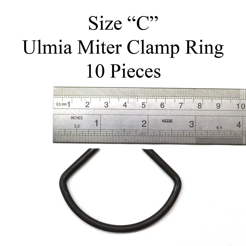 Gehrungsspannklammern Spitzenweite: 20 mm - Spannklammern aus hochwertigem 170-C geh/ärtetem Federstahl mit angeschliffenen Spitzen keine Sch/ädigung des Spanngutes Ulmia Klammern