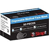 Strapit SurgiMask Level 2 AS Surgical and Medical Face Mask, 50 count, Pack of 50