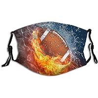 Passionate Basketball-Face Mask, Fashionable Sports Basketball Balaclavas Dustproof-Washable& Reusability With 2 Filters