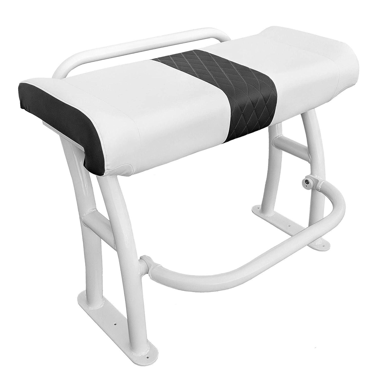 リーニングポスト グラブレスト付き シート下収納 凹型フットレスト ユニバーサルデザイン センターコンソールボート用 ホワイト プロシリーズ
