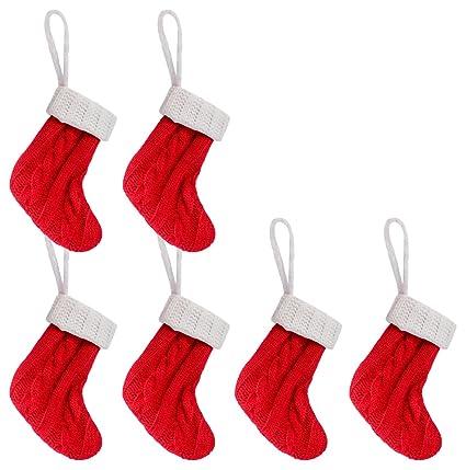 Unomor Soportes para Cubiertos, diseño navideño, diseño de Calcetines de Navidad, Plata,
