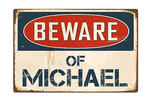 qidushop Beware of Michael - Cartel para decoración de ...