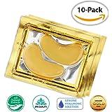 24K Gold Eye Mask / Anti-aging Hyaluronic Acid Eye Patches / Gold Collagen Eye Strips for Anti Wrinkle Tissue Rejuvenation / Spa Quality / 10-Pack