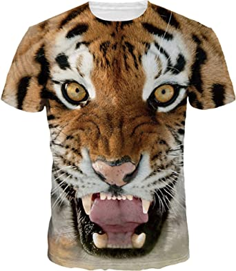 Imagen deEMILYLE Hombre 3D Graphic Print Camisetas Moda Manga Corta Tees Round Neck Top Camisa