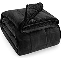 Wemore Sherpa Fleece Weighted Blanket for Adult 15 lbs Dual Sided Cozy Fluffy Heavy Blanket,Ultra Fuzzy Throw Blanket…