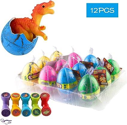 Newest 10pcs//set Kids Magic Funny Hatching Growing Dinosaur Eggs Educational Toy