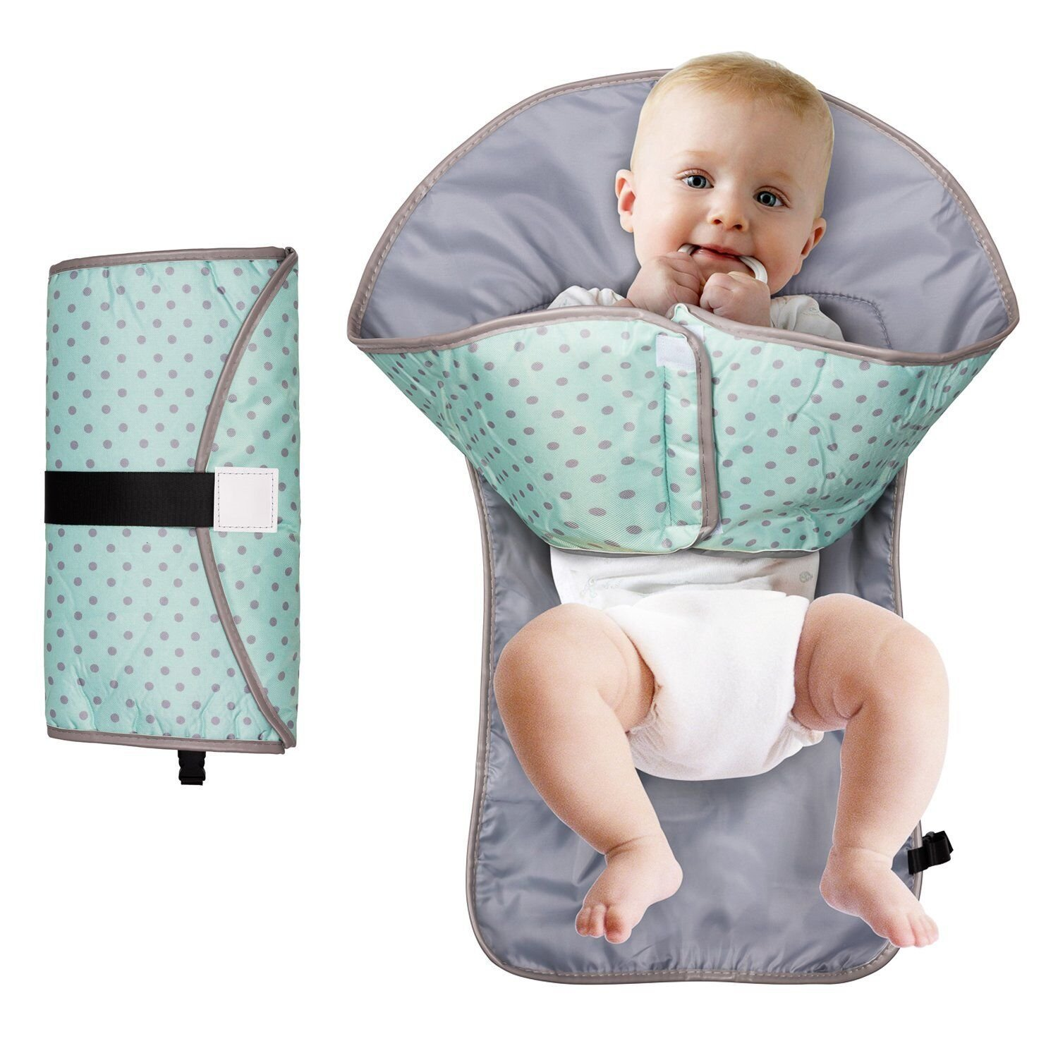 Baby Diaper Changing Pad 3-in-1 Changing Diaper Portable Clean Hands Changing Pad