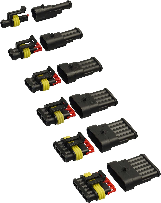 240tlg Superseal Starter Set Sortiment 1-6 Polig Stecker Mit KFZ-Sicherung 5-30A