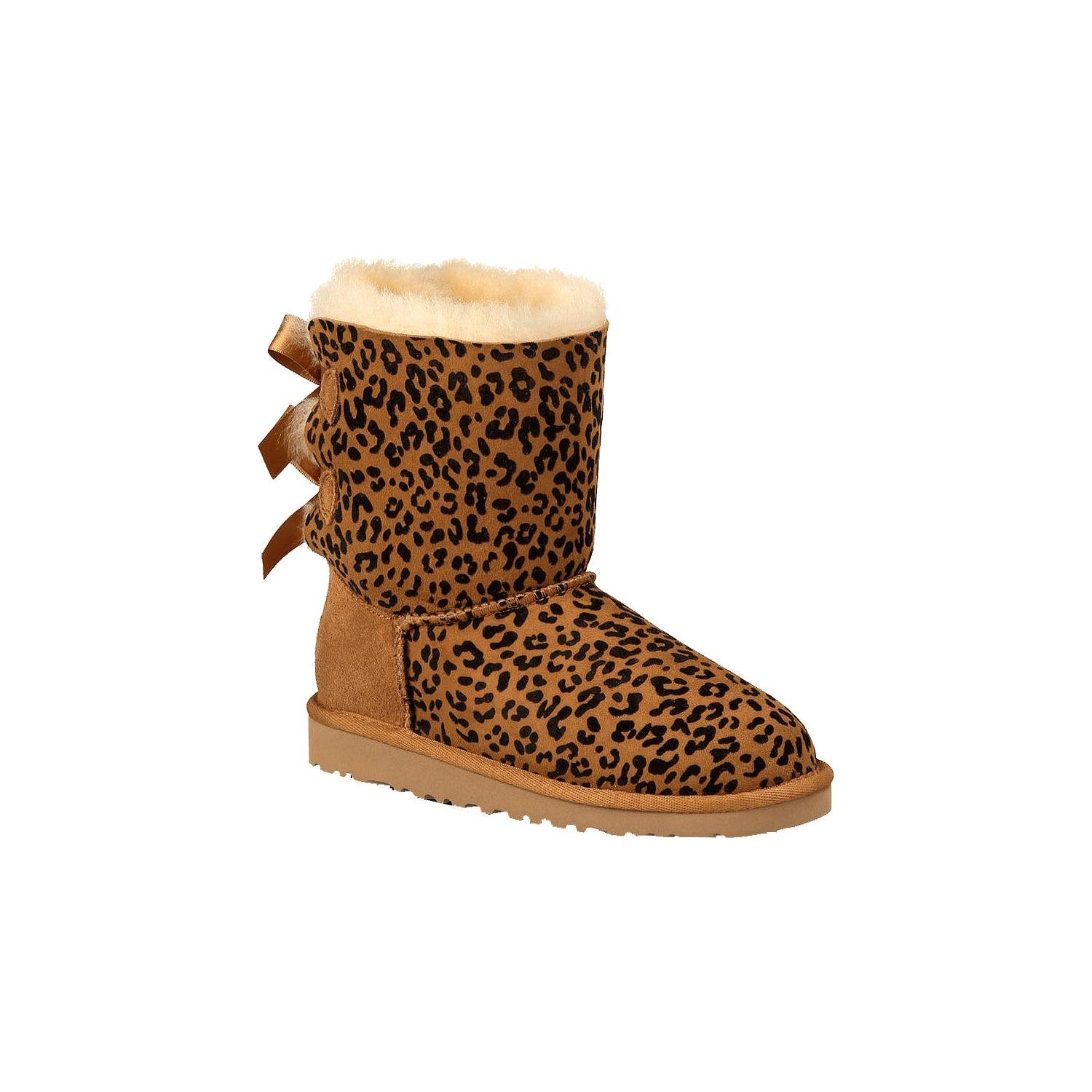 UGG Australia Kids Bailey Bow Rosette Boot Chestnut Size 4