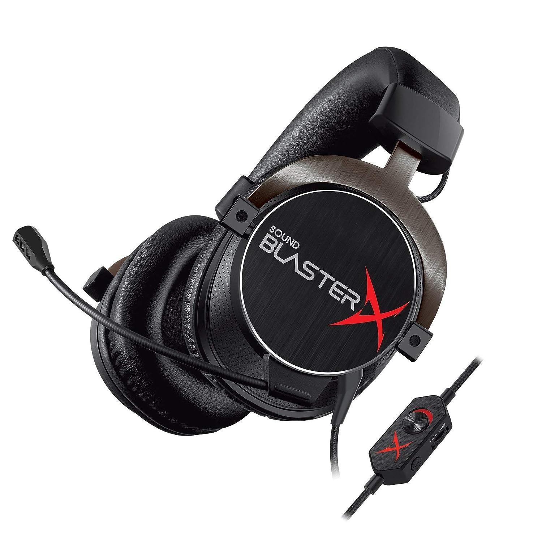 Creative Sound BlasterX H5 Tournament Edition - Professionelles Analog-Gaming-Headset (geeignet fü r PC/Mac, PS4 und xBox One) schwarz (Zertifiziert und Generalü berholt)