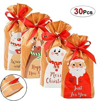 HOWAF 30 Pcs Bolsas de Regalo Navidad, bolsitas para Regalos ...