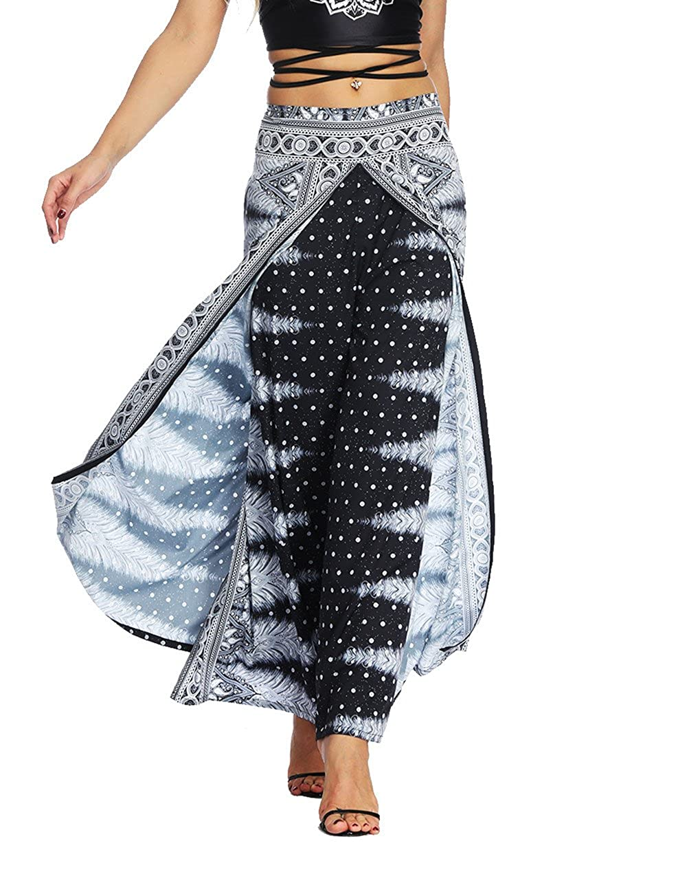 0f6d9f604e0d9 Details:Full Length,Wide Leg,Loose Fit,Elastic Waist,Print,Indie Folk,Hippy  Aladdin Boho Style. Occasions:Ideal For Summer days.
