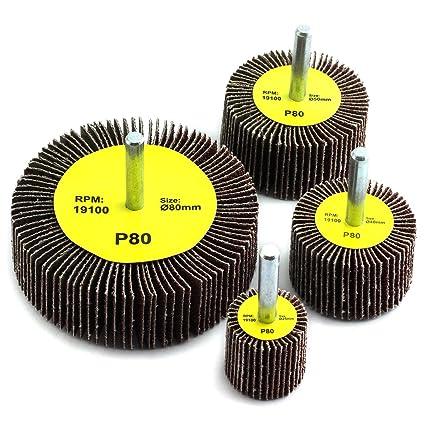16//30//40mm Sanding Flap Wheel Disc Abrasive Sanding Drill 6mm Shank 60-320Grit