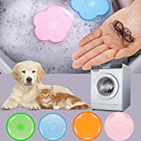 4 Pieces Floating Hair Filtering Mesh Removal Washing Machine Wool Device, Household Reusable Pet Fur Catcher Filter Bag…