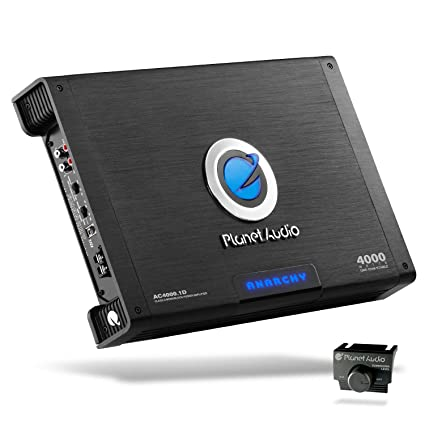 Planet Audio AC4000 1D Class D Car Amplifier - 4000 Watts, 1 Ohm Stable,  Digital, Monoblock, Mosfet Power Supply