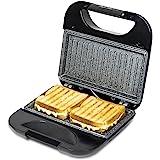 Cecotec Rock'nToast Square - Sandwichera con placas de plancha grill, revestimiento de piedra RockStone, 750 W de potencia, pinza de cierre y hueco recogecables