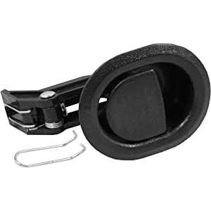 Reliable Recliner Replacement Parts ☆ HANDLE COMES WITH CABLE HOOK ☆ Small Oval Black Plastic Pull