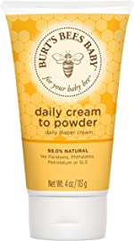 Burt's Bees Baby Daily Cream to Powder, Talc-Free Diaper Rash Cream