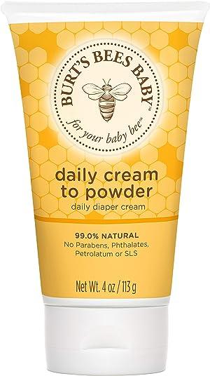 Burt's Bees Baby Daily Cream to Powder, Talc-Free Diaper Rash Cream - 4 Ounces Tube