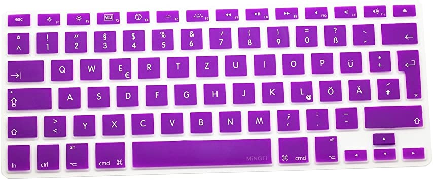 MiNGFi alemán German QWERTZ Cubierta del Teclado/Keyboard Cover para MacBook Pro 13