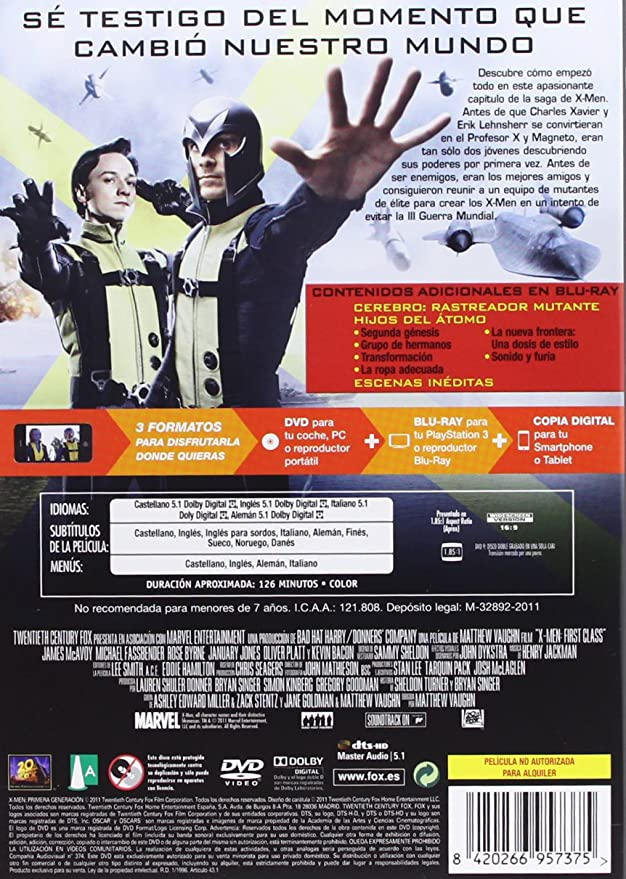 Amazon.com: X-Men First Class (Import Movie) (European Format - Zone 2) (2011) Goldman,Jane; Miller ,Ashley; Moss ,Jami: Movies & TV