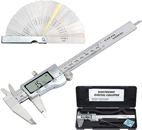 Universal 150mm//6inch~Digital Electronic LCD Steel Stainless Ruler Gauge Caliper