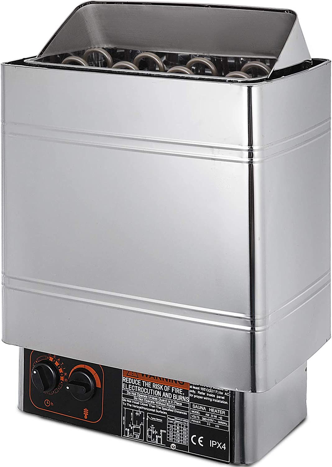 stainless steel prevent dry burn heater