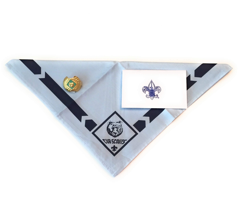 Official BSA Uniform Cub Scout Neckerchief with Slide Apparel (Bear) by Official BSA Uniform