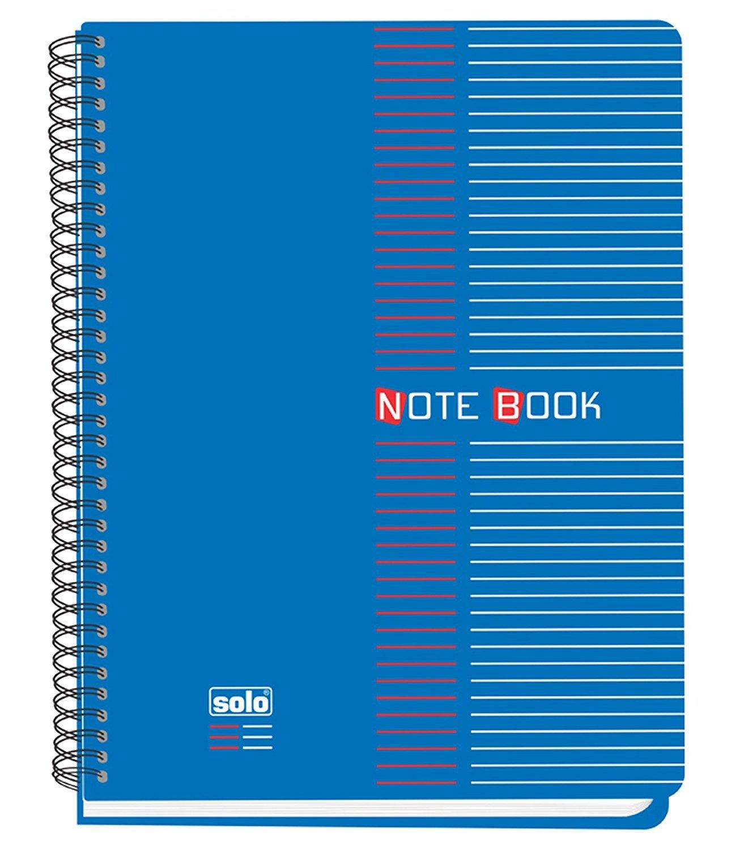Solo Spirale Notebook, College liniert 70gsm Tagebuch B5Schreiben Notebook, 200Blatt–Größe erhältlich B5 Size blau