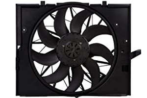 BOXI Engine Cooling Fan Assembly For BMW E60 525 530 545 645, E65 750 17427543282,17427514181