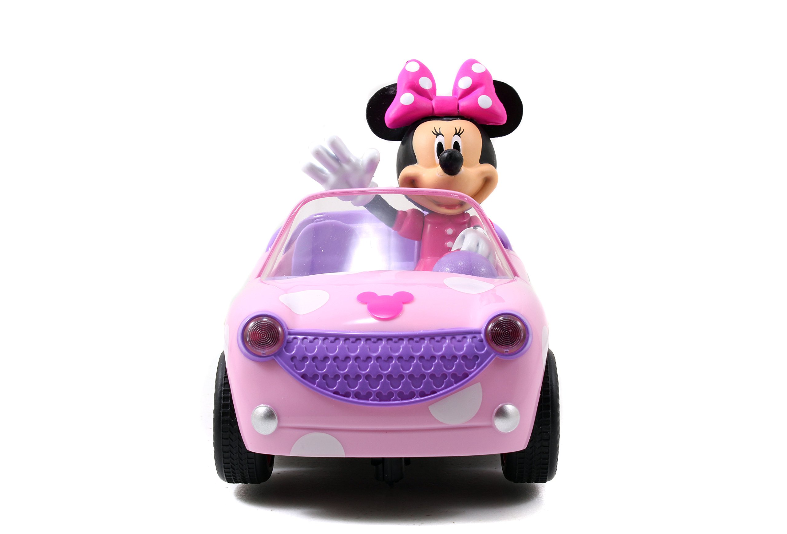 Jada Toys Disney Junior Minnie Mouse Roadster RC Car with Polka Dots, 27 MHz by Jada