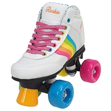 Rookie Forever Rainbow V2 Patines, Niños, Blanco, 33