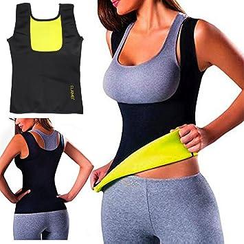 ffead25aa6054 ELAIMEI Women Hot Sweat Body Shaper Tank Thermo Yoga Sauna Neoprene Vest  Fat Burner Slimming Waist