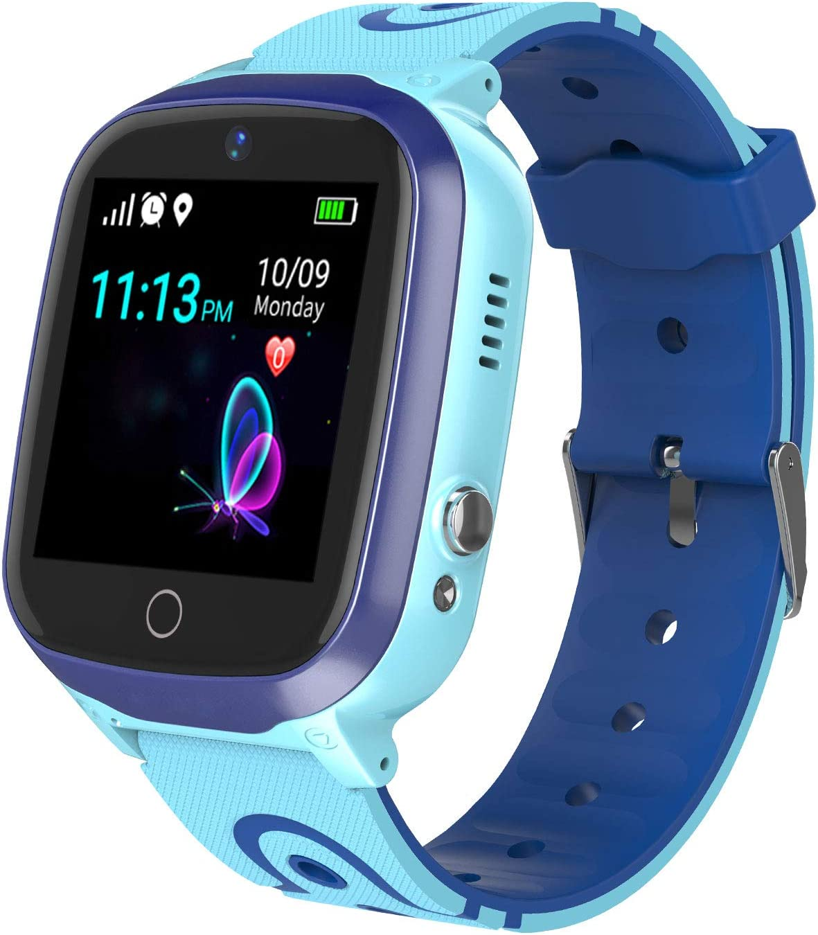Smart Watch for Kids - Boys Girls Smartwatch Phone with Waterproof GPS Tracker Voice Chat SOS Call Camera Games Alarm Clock Anti Lost Games Touch ...