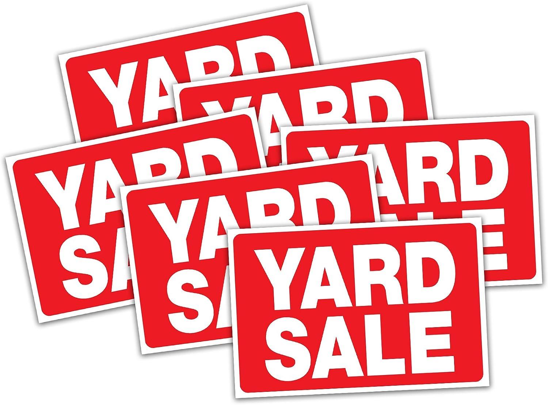 Amazon.com: HeadLine 5503 - Cartel de venta de garaje, rojo ...
