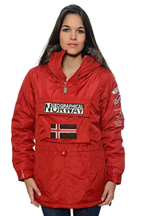 Geographical Norway – Parka de mujer, color rojo