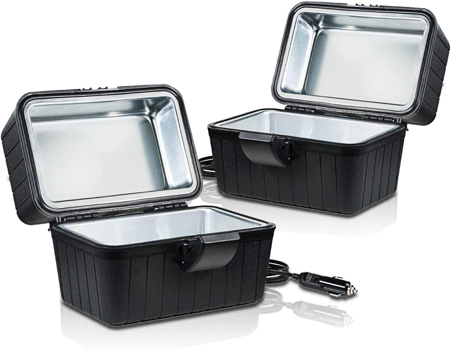 Zone Tech Heating Lunch Box - Premium Quality 2 Pack Electric Insulated Lunch Box Food Warmer Perfect for Picnics, Travelling, and On-site Lunch Break