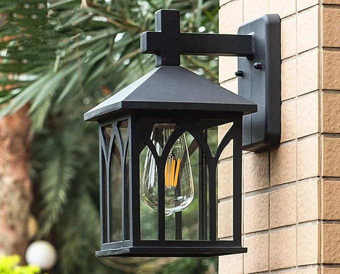 Illuminazione Esterna Lanterna : Lanterna da parete per esterni fancy cortile lampada da parete in